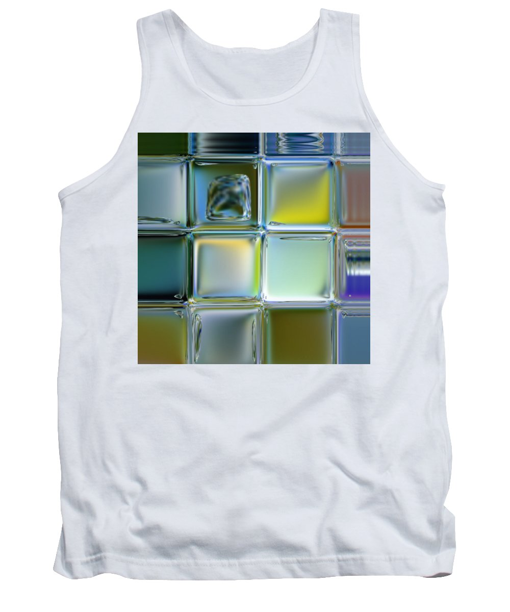 Pastels Tank Top featuring the digital art Bricks In The Wall by Scott S Baker