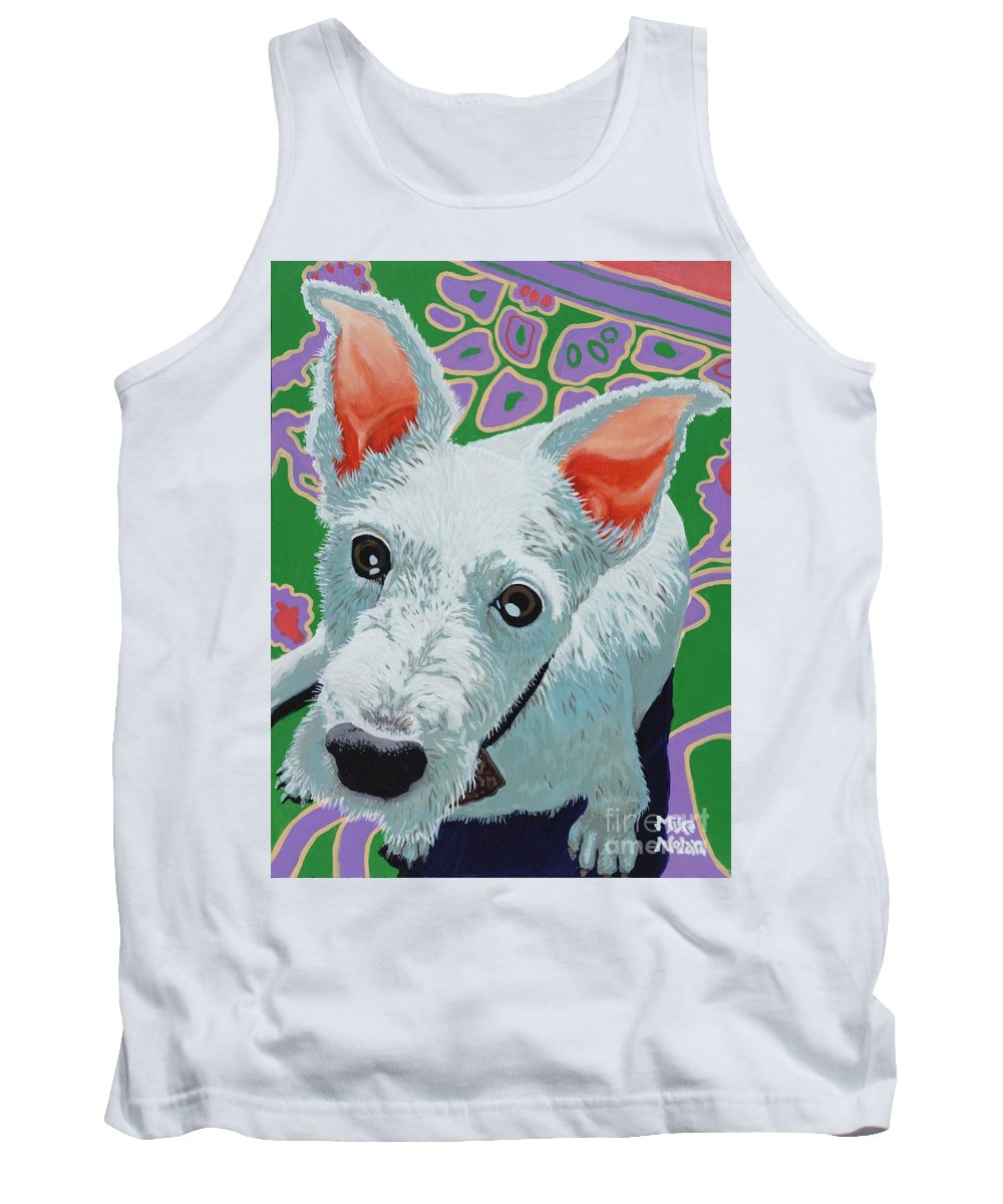 Dogs Tank Top featuring the painting Charley by Mike Nolan