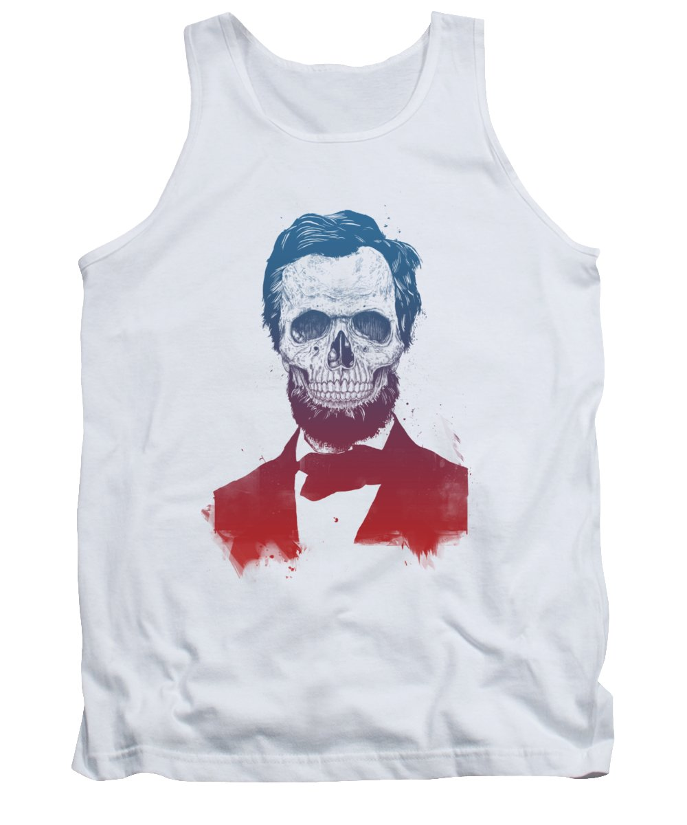 Abe Lincoln Tank Top featuring the drawing Dead Lincoln by Balazs Solti