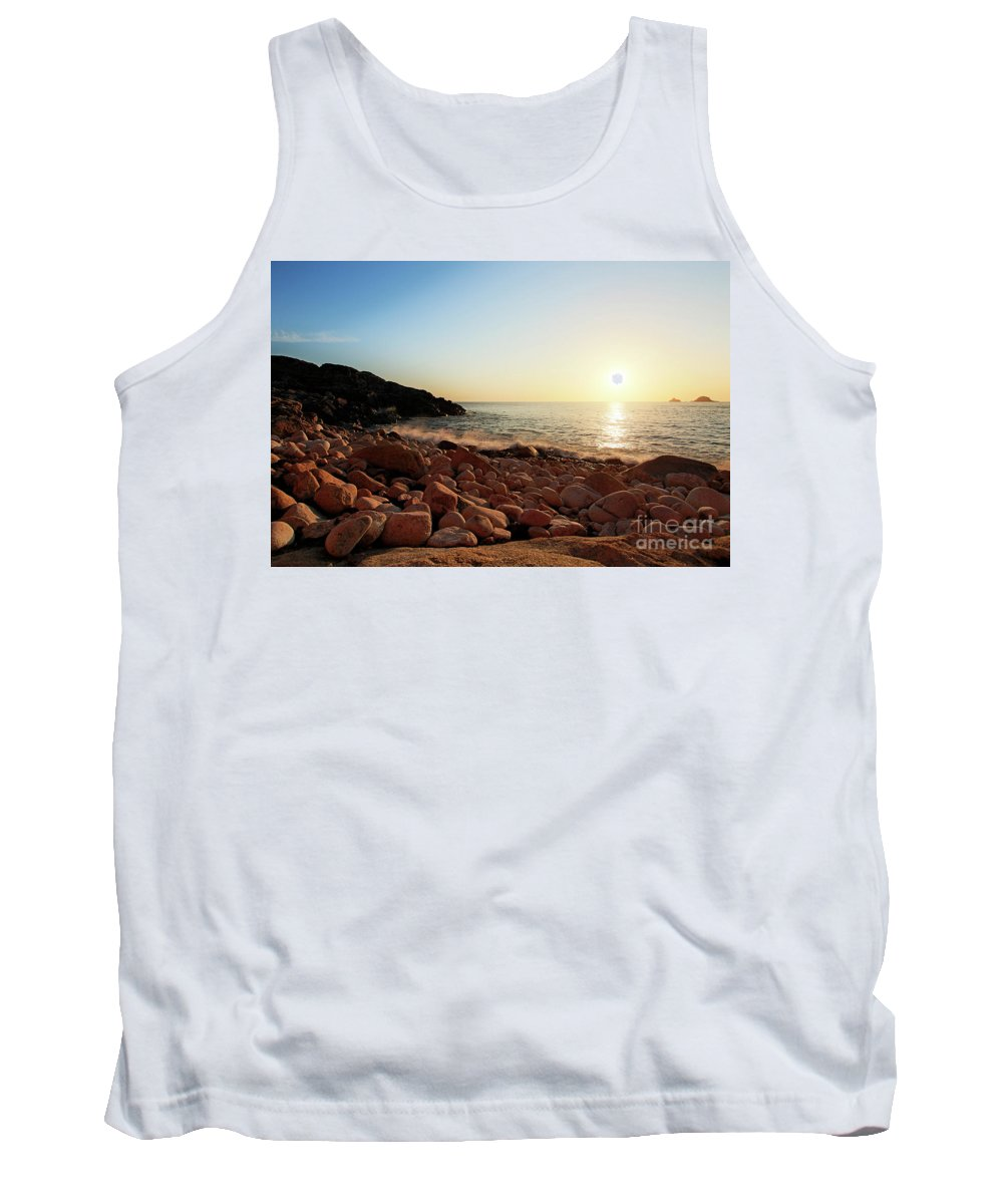 Porth Nanven Tank Top featuring the photograph Evening Glow At Porth Nanven by Terri Waters