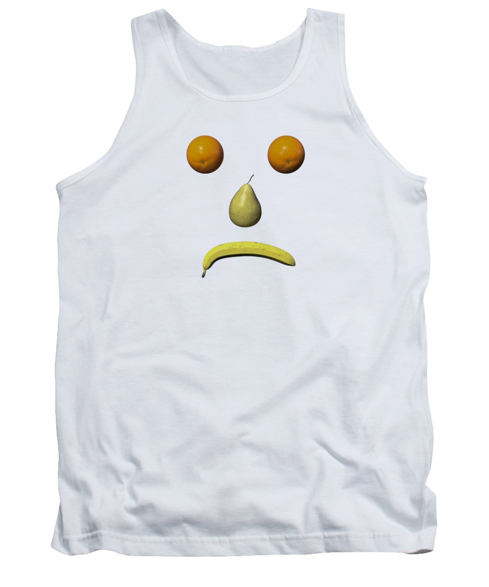 Fruit Tank Top featuring the digital art Feeling Fruity Frown Png by Betsy Knapp