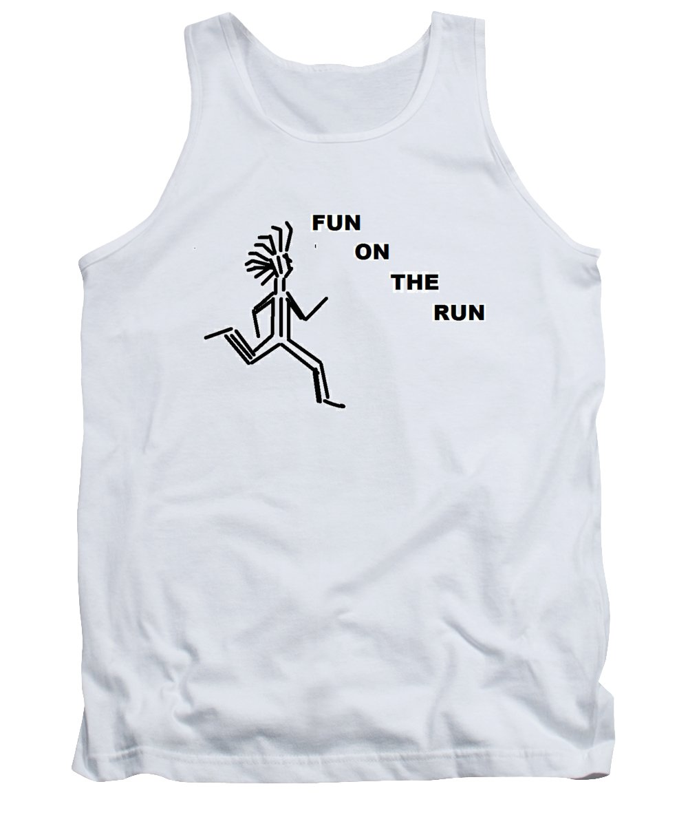 Drawingart Tank Top featuring the drawing Fun on the RuN by Andrew Johnson