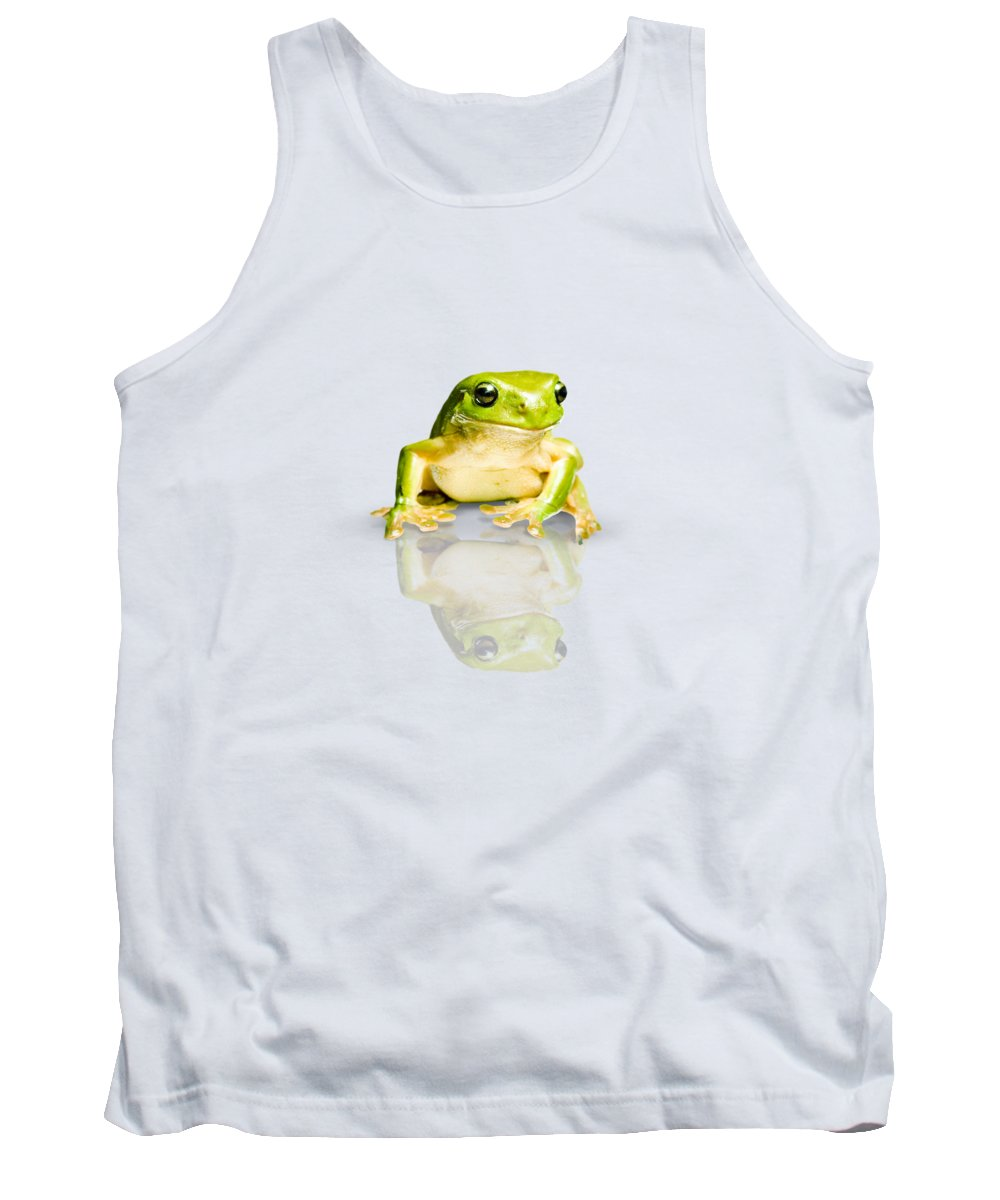 Frog Tank Top featuring the photograph Green Tree Frog by Jorgo Photography - Wall Art Gallery