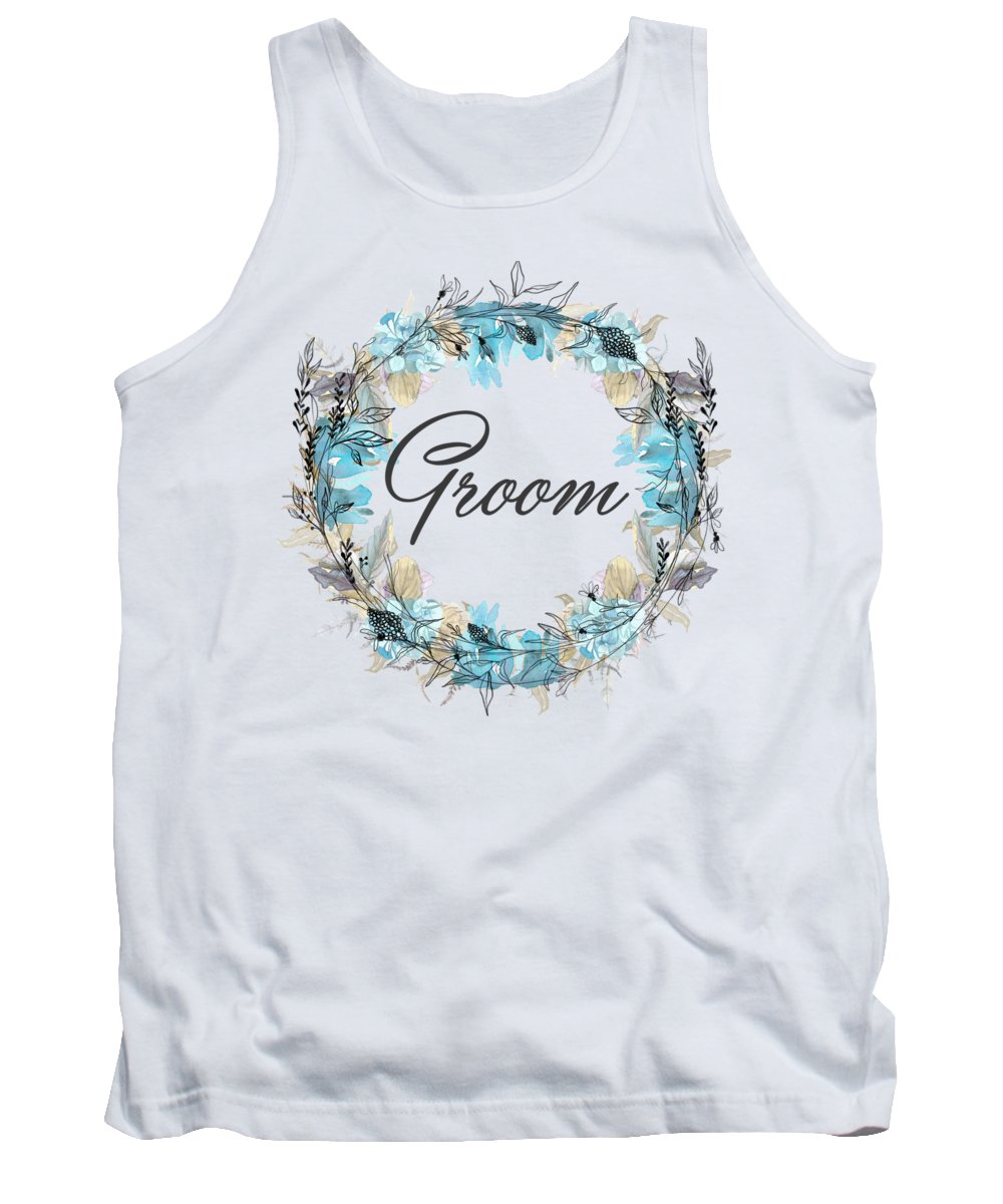 Groom Tank Top featuring the mixed media Groom by Mo T