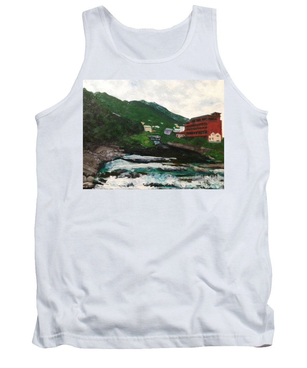 Hakone Art Tank Top featuring the painting Hakone In Natural Splendor by Sawako Utsumi