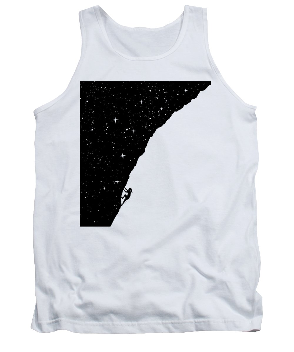 Night Tank Top featuring the mixed media Night climbing by Balazs Solti