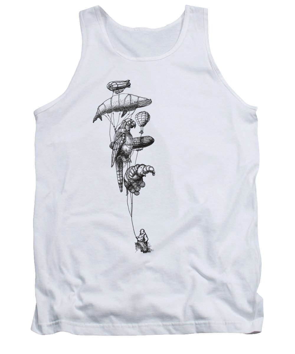Balloons Tank Top featuring the photograph The Helium Menagerie by Eric Fan