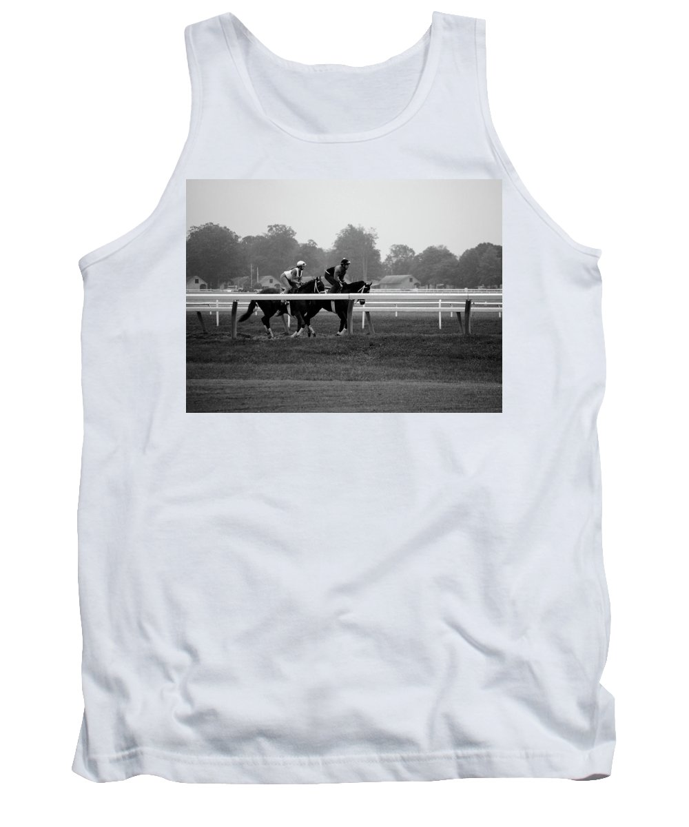 Saratoga Ny Tank Top featuring the photograph The Work Out by George Fredericks
