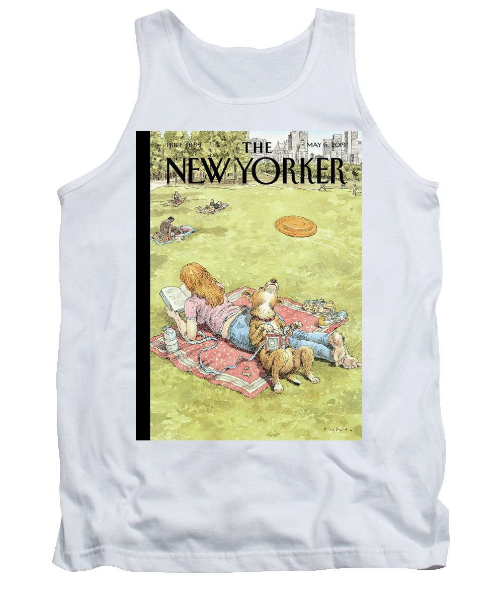 To Fetch Or Not To Fetch Tank Top featuring the painting To Fetch or Not to Fetch by John Cuneo