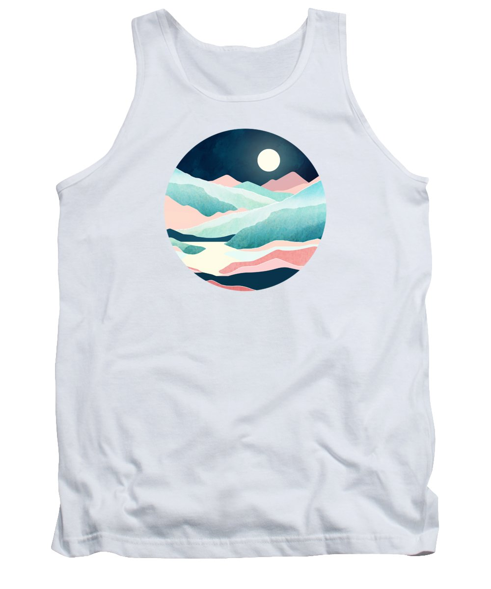 Tranquil Tank Top featuring the digital art Tranquil Vista by Spacefrog Designs