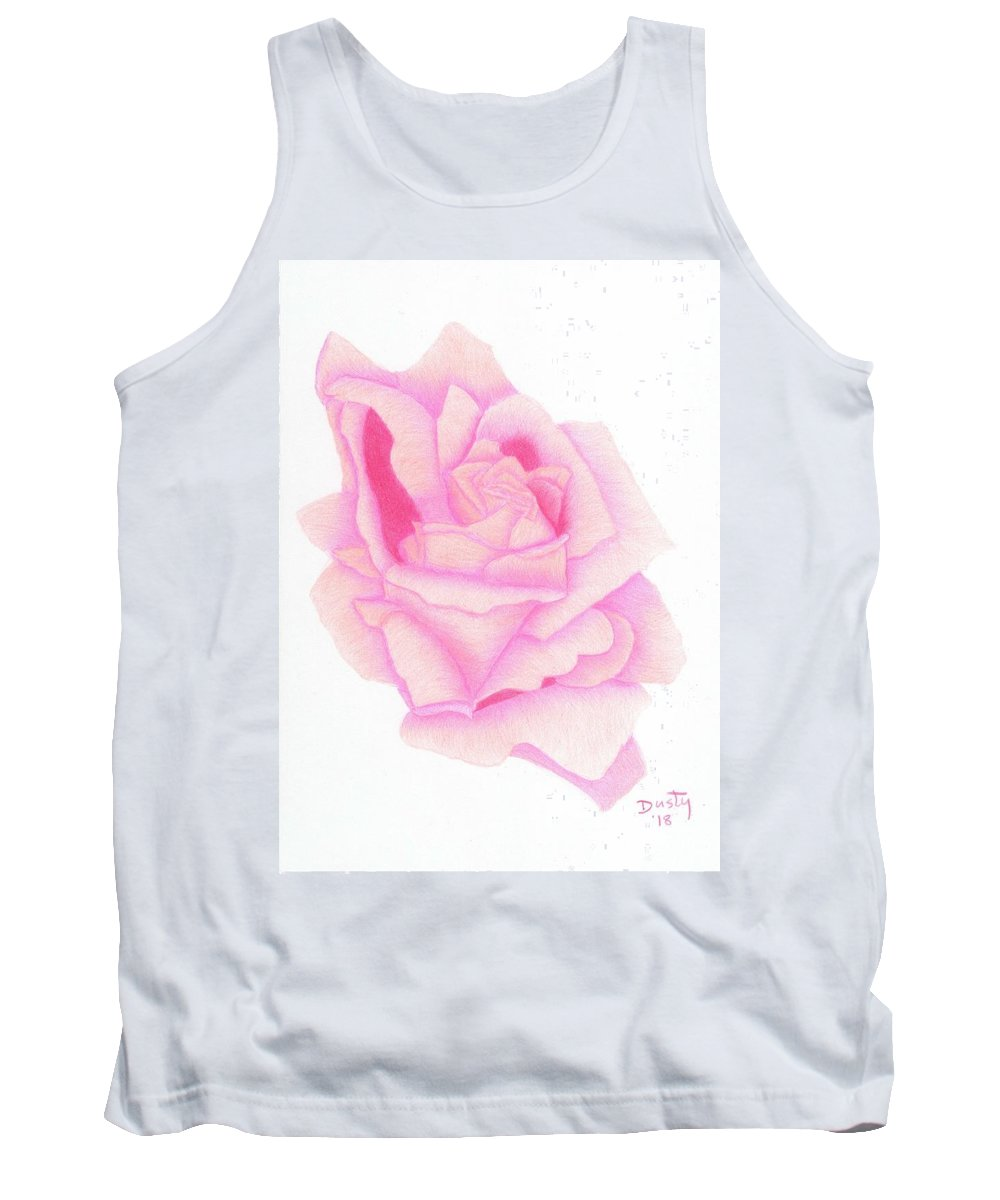 Pink Tank Top featuring the drawing Twinkle Pink by Dusty Reed