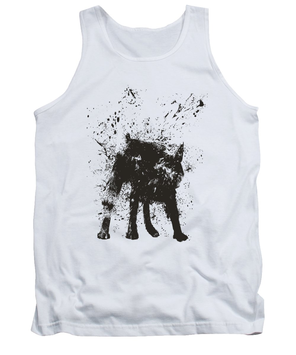 Dog Tank Top featuring the mixed media Wet dog by Balazs Solti