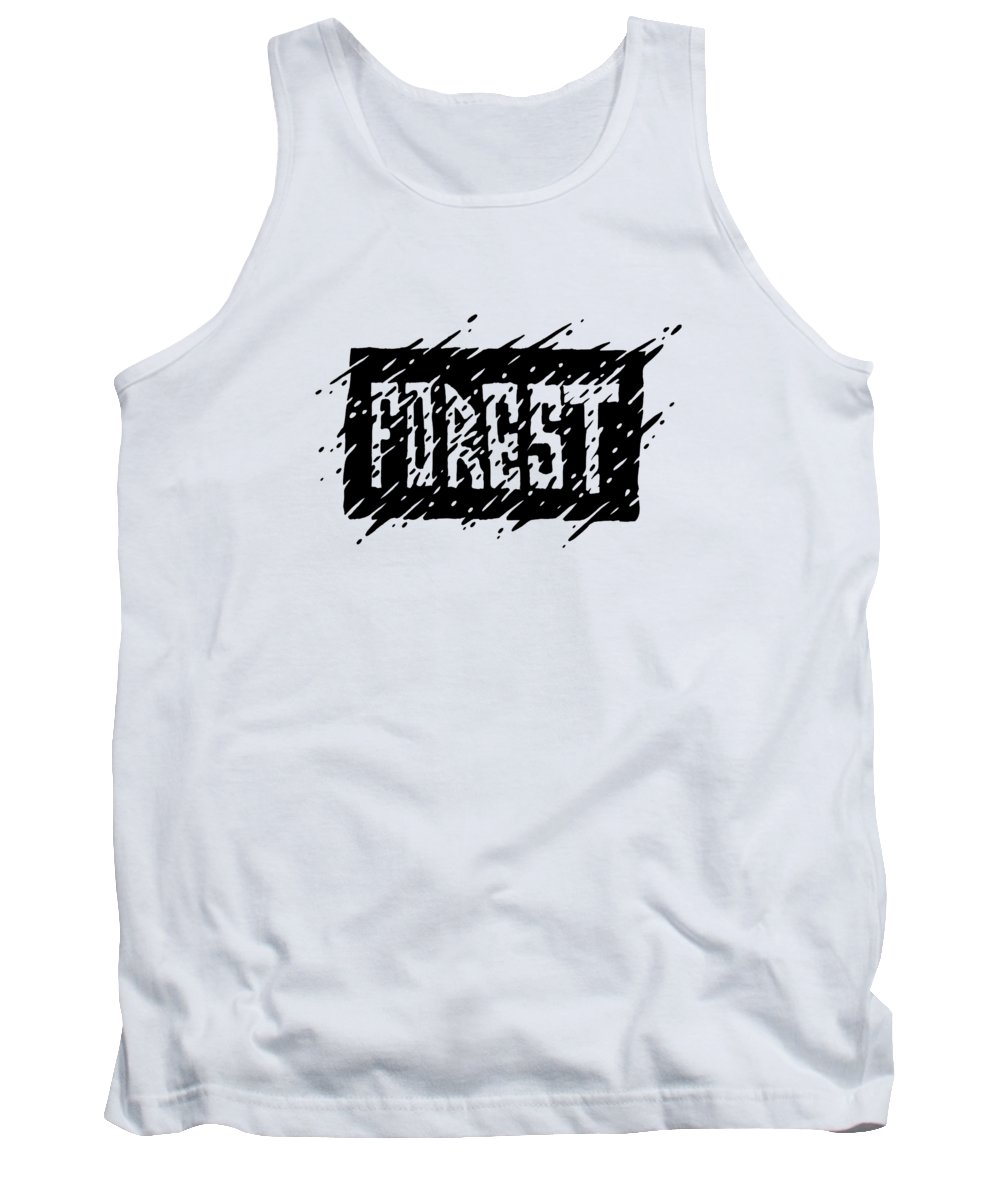Forest Tank Top featuring the digital art Forest by Danilov Ilya