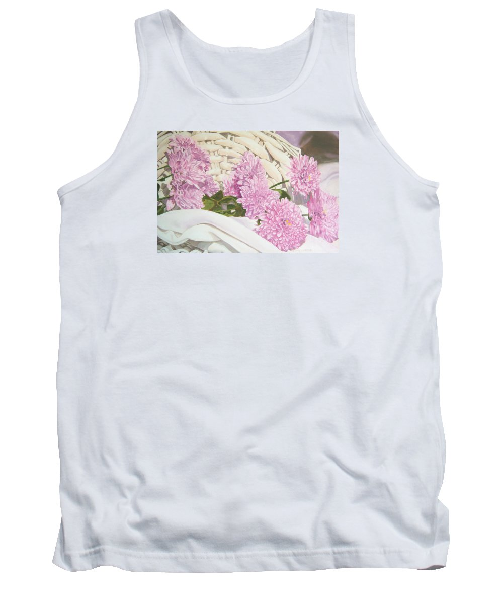 Fine Art Print Tank Top featuring the painting Floral Art Print For Sale Still Life Oil Painting by Diane Jorstad