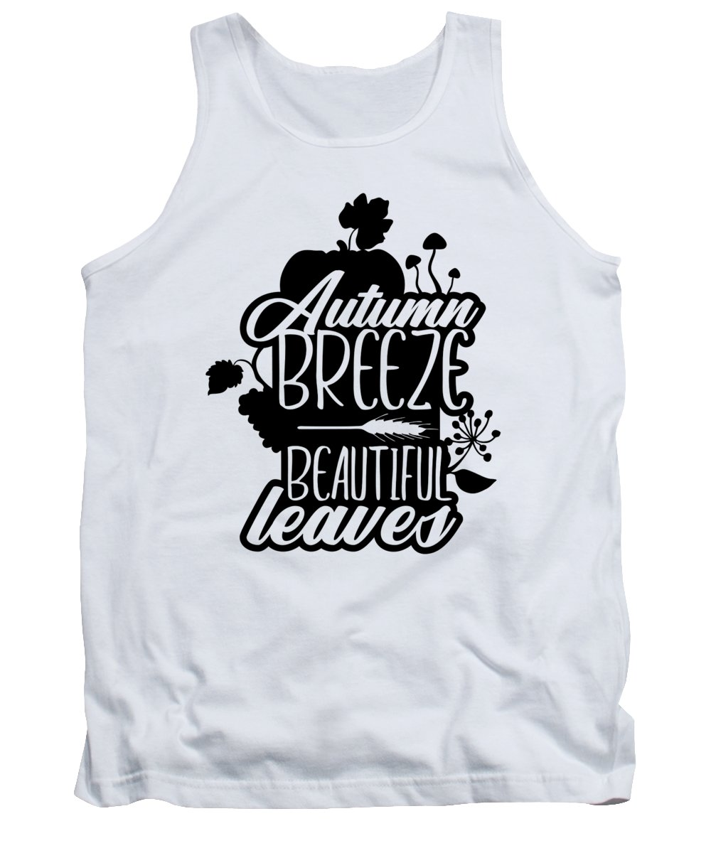 Wheat Tank Top featuring the digital art Autumn Breeze Beautiful Leaves Nature by Jacob Zelazny