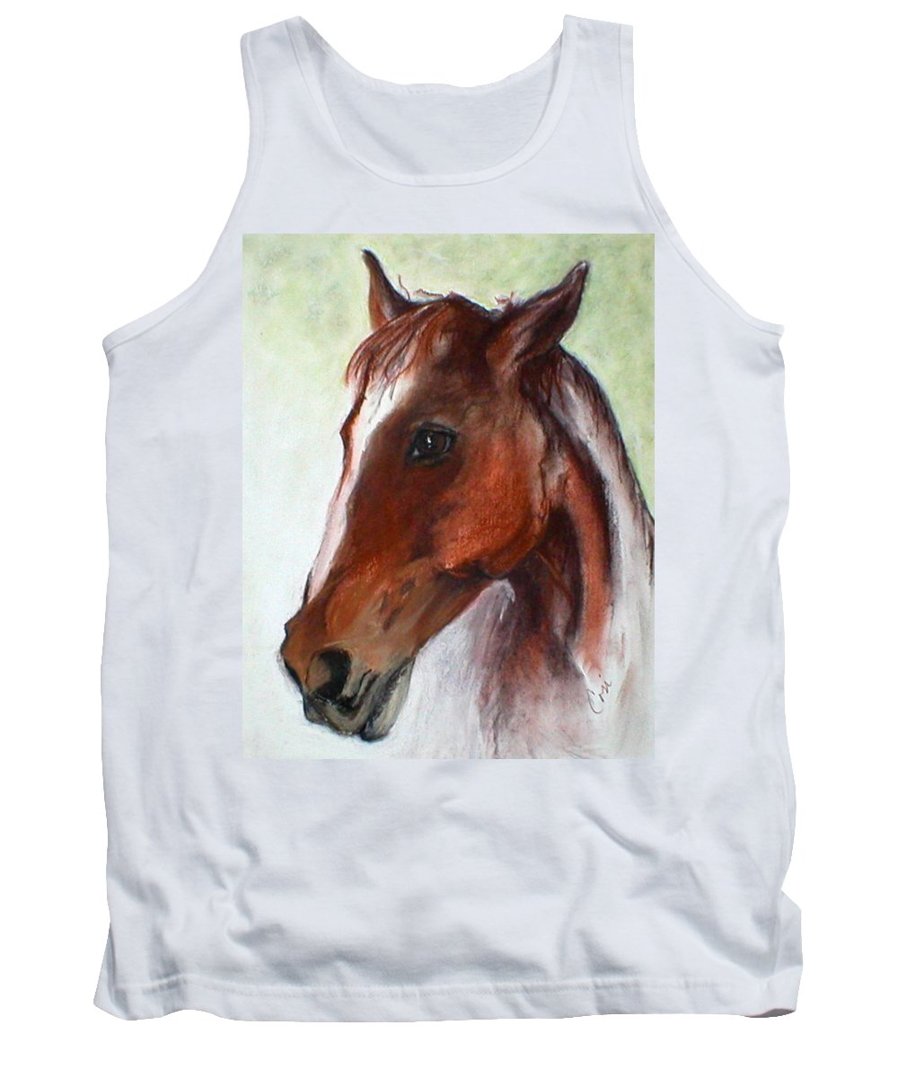 Horse Tank Top featuring the drawing Becky by Cori Solomon