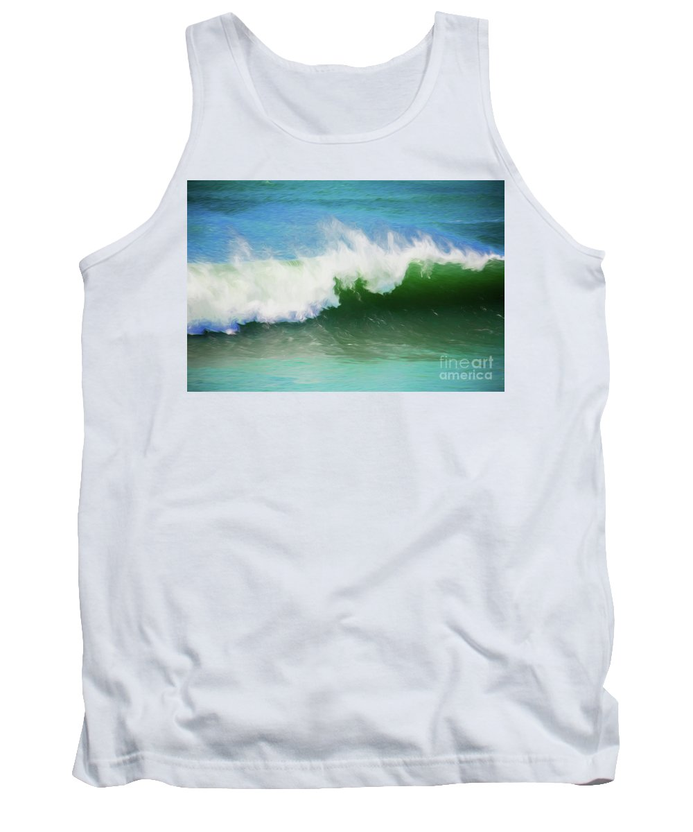 Surf Tank Top featuring the photograph Crashing surf by Sheila Smart Fine Art Photography