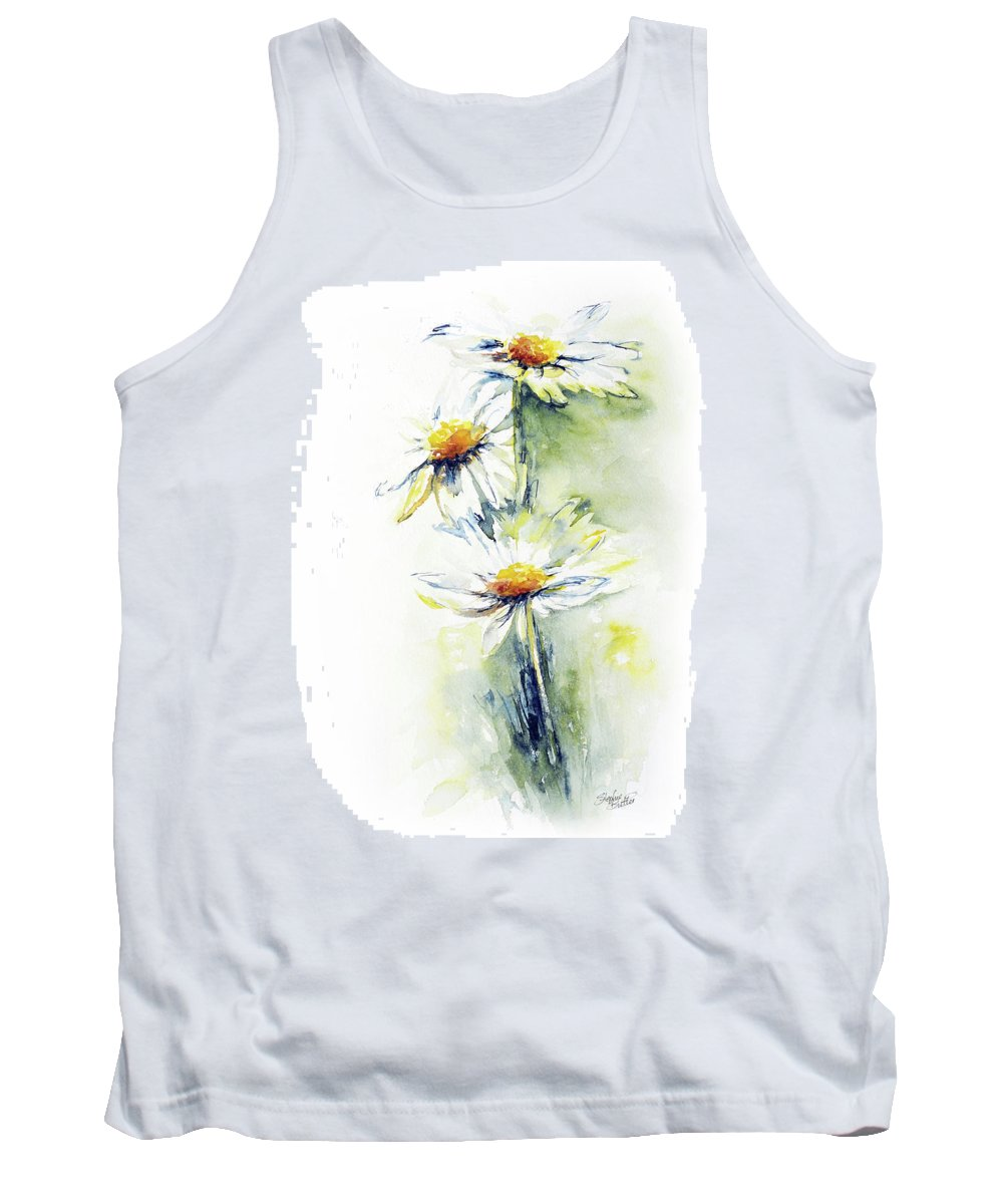 Flower Tank Top featuring the painting Daisy Chain by Stephie Butler