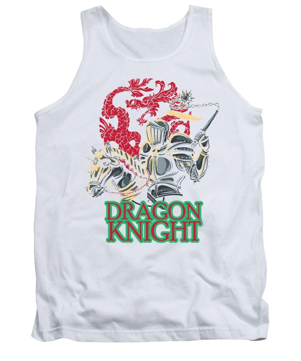 Dragon Knight Tank Top featuring the digital art Dragon Knight Riding Horse by Jacob Zelazny