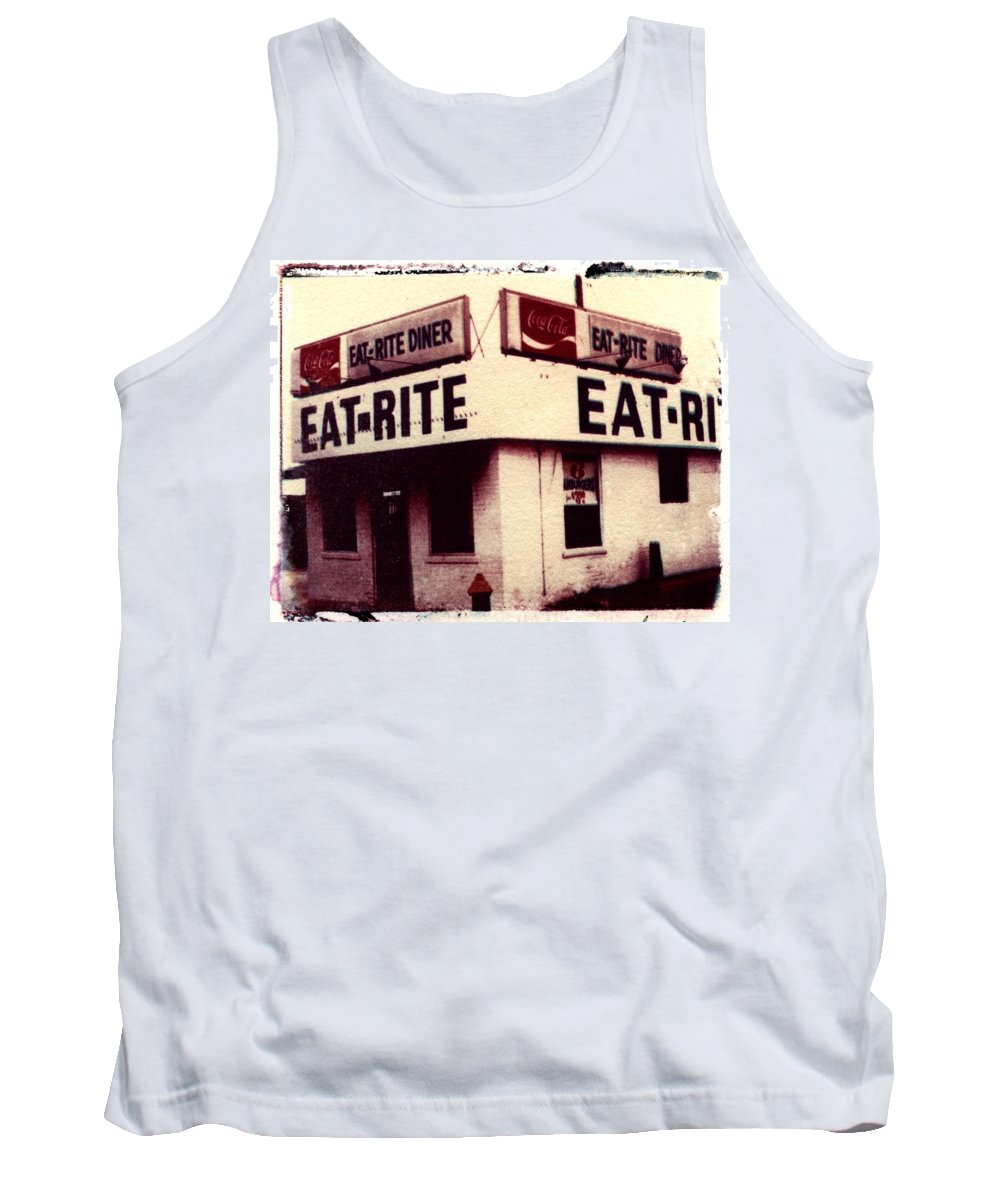 Polaroid Transfer Tank Top featuring the photograph Eat Rite by Jane Linders