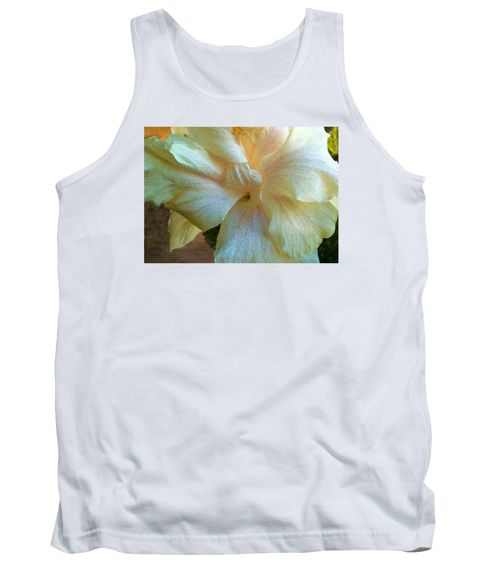 Hawaiian Flowers Tank Top featuring the photograph Evening Hibiscus by James Temple