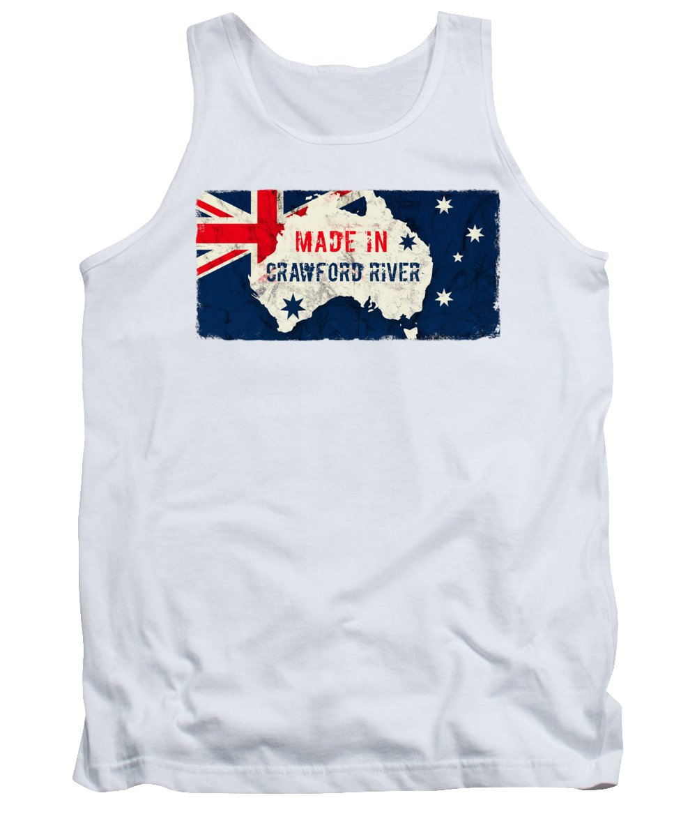 Crawford River Tank Top featuring the digital art Made In Crawford River, Australia #crawfordriver #australia by TintoDesigns