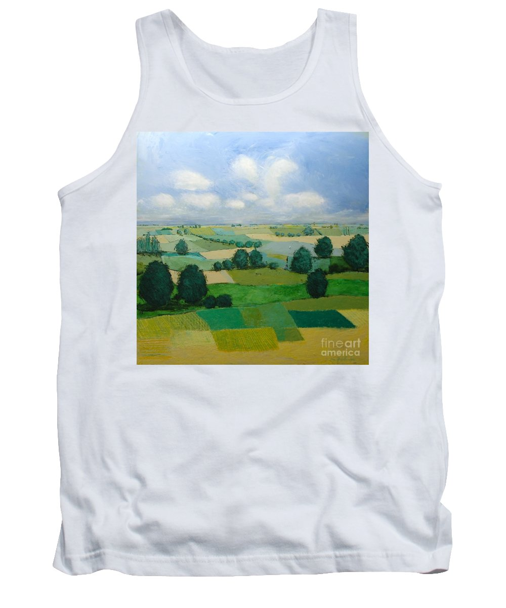 Landscape Tank Top featuring the painting Morning Calm by Allan P Friedlander