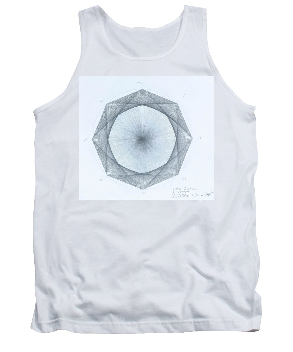 Octagon Tank Top featuring the drawing Octagon limits by Jason Padgett
