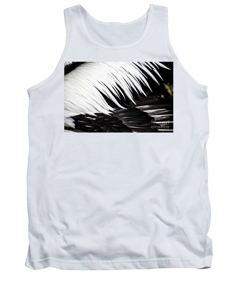 Feathers Tank Top featuring the photograph Pelican feathers by Sheila Smart Fine Art Photography