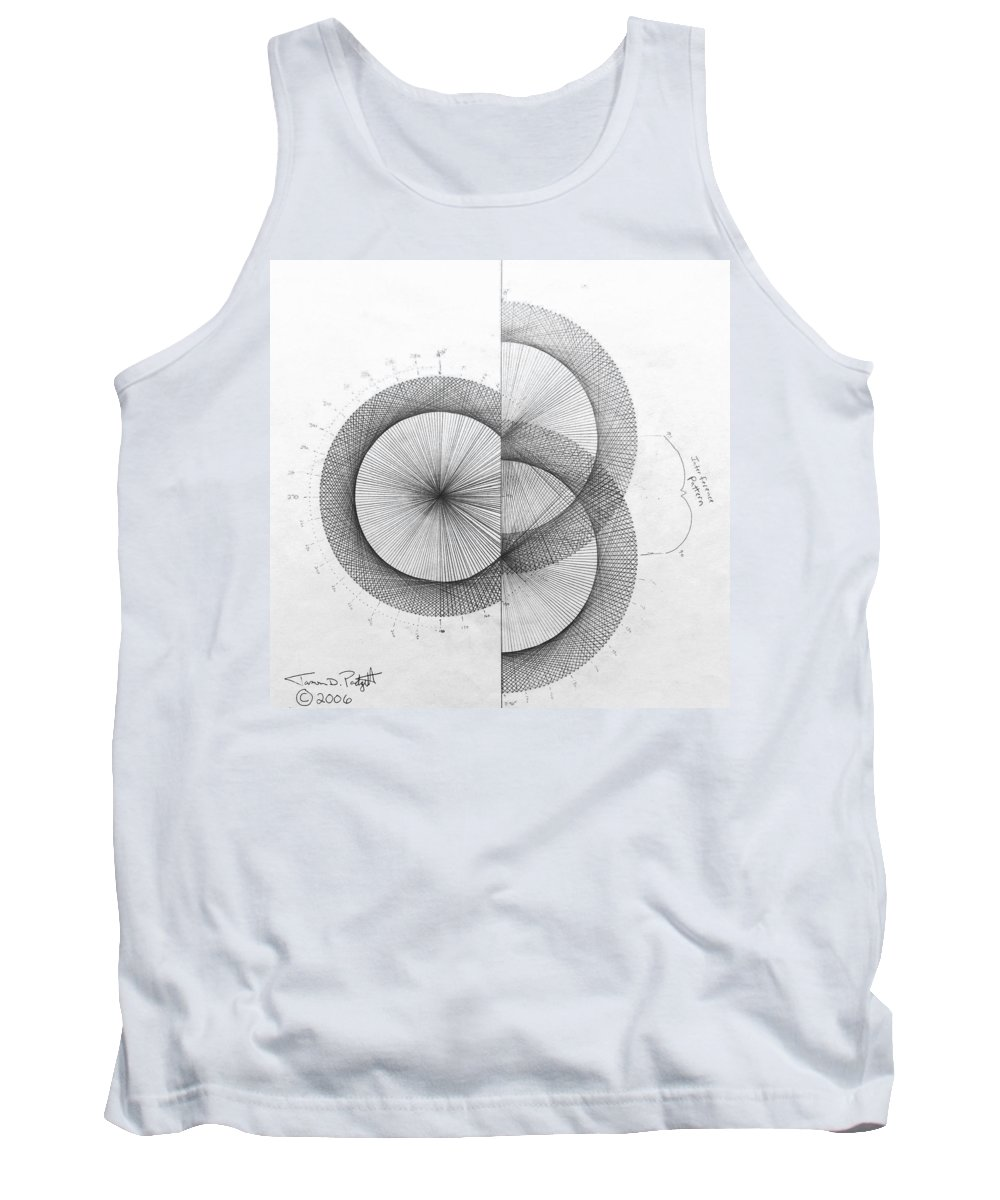 Photon Tank Top featuring the drawing Photon Double Slit high res. by Jason Padgett