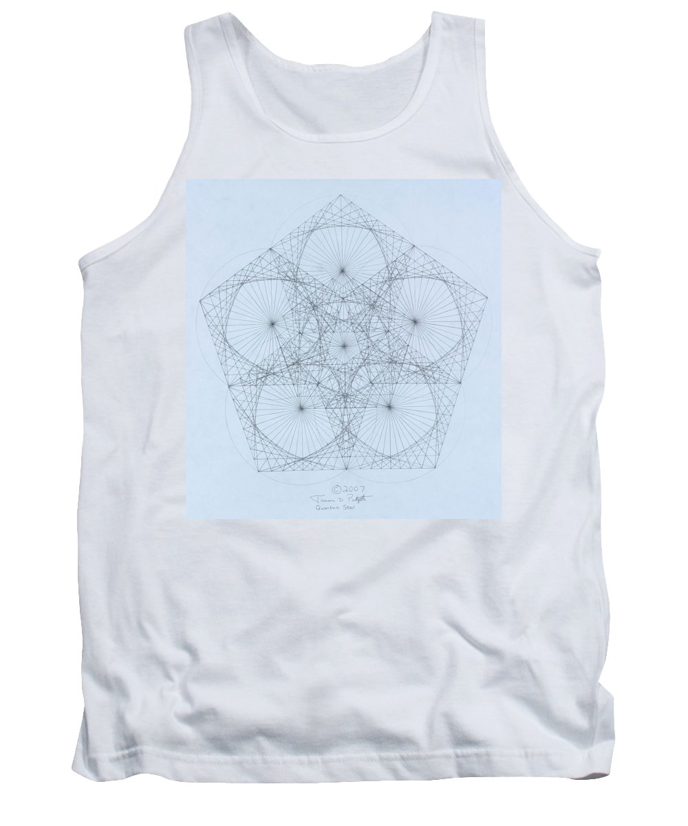 Star Tank Top featuring the drawing Quantum Star high res. by Jason Padgett