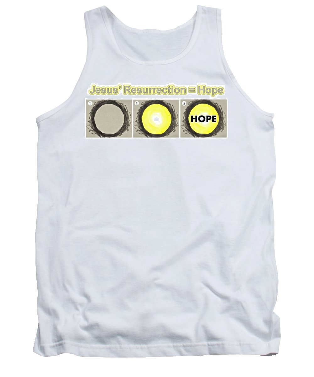 Easter Tank Top featuring the mixed media Resurrection Hope by Jim Harris