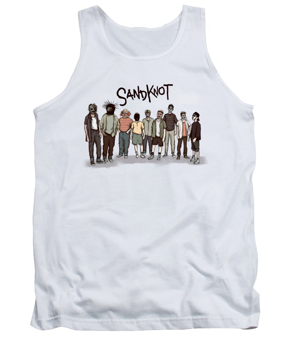 Metal Tank Top featuring the drawing Sandknot by Ludwig Van Bacon