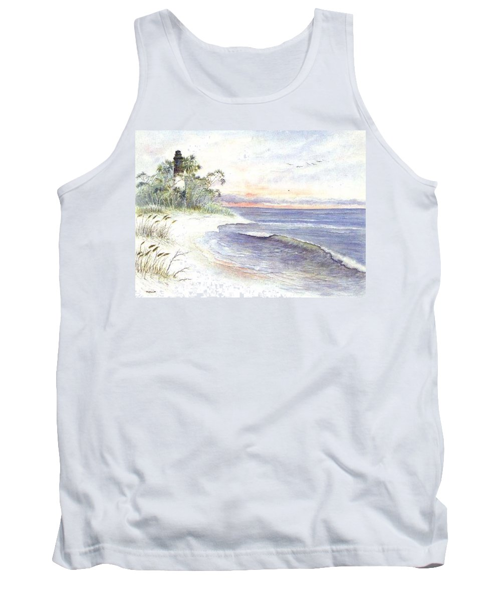 Lighthouse Tank Top featuring the painting Solitude by Ben Kiger
