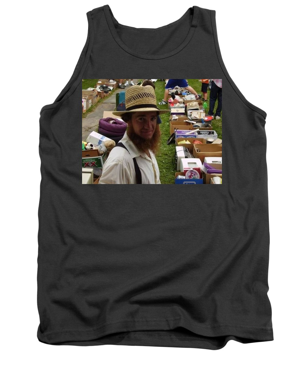 Ohio Amish Prints Tank Top featuring the photograph    Amish In The City by R A W M