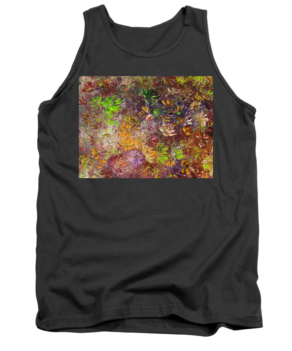 Green Abstract Tank Top featuring the painting My Pretty Green Pallet by Karin Dawn Kelshall- Best