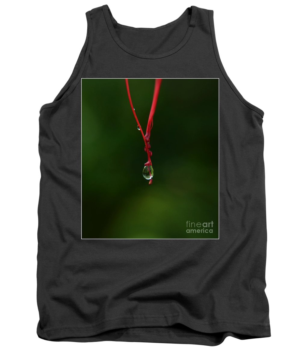 Michelle Meenawong Tank Top featuring the photograph Waterdrop by Michelle Meenawong