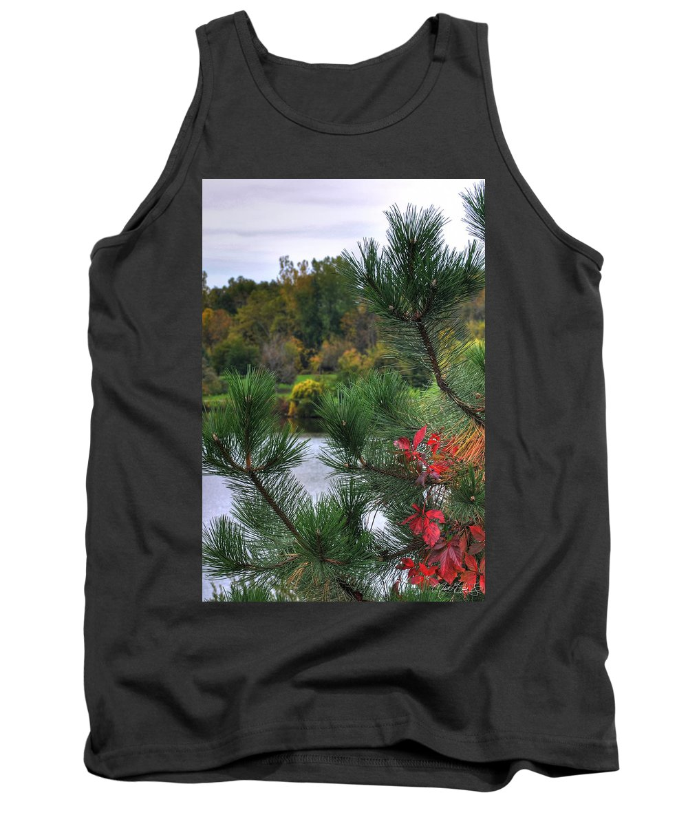 Autumn Tank Top featuring the photograph 0013 Hoyt Lake Autumn 2013 by Michael Frank Jr