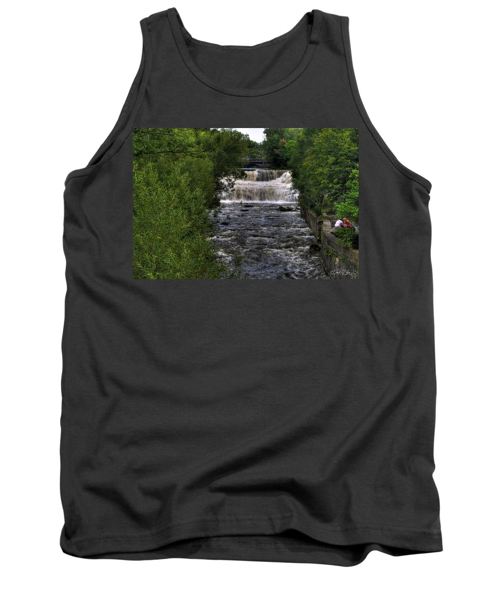 Michael Frank Jr Tank Top featuring the photograph 0015 Glen Falls Of Williamsville New York Series by Michael Frank Jr