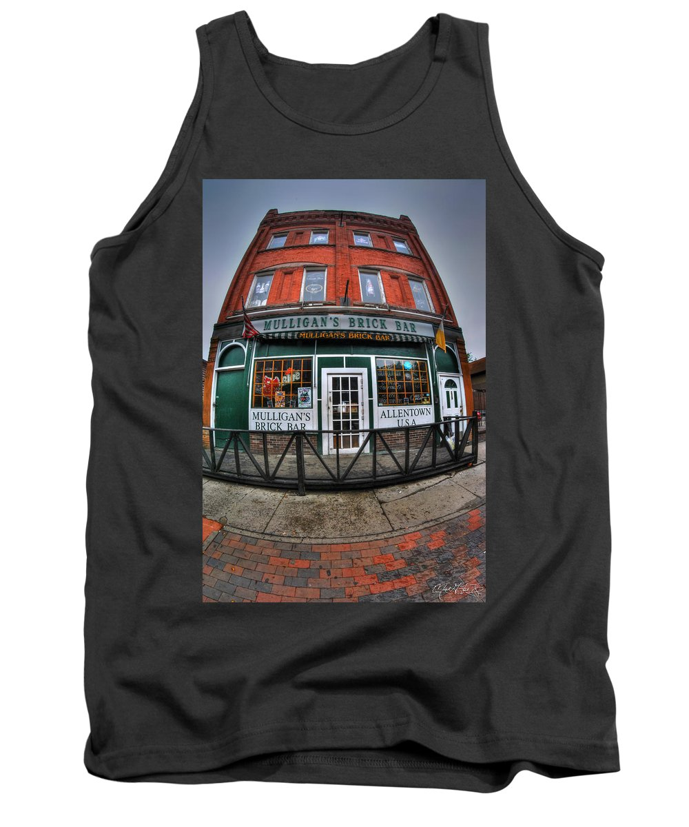 Allentown Tank Top featuring the photograph 002 Mulligans Brick Bar by Michael Frank Jr