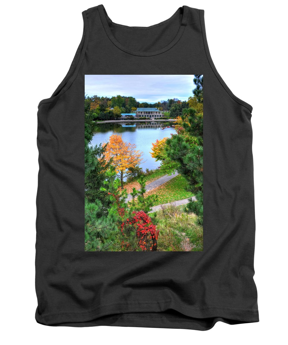 Autumn Tank Top featuring the photograph 007 Hoyt Lake Autumn 2013 by Michael Frank Jr