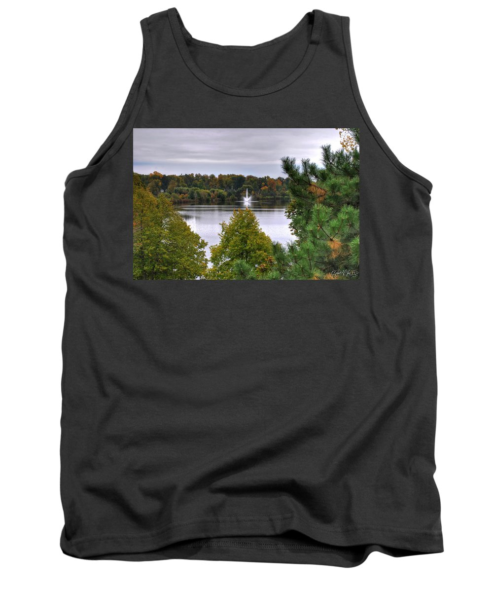Autumn Tank Top featuring the photograph 009 Hoyt Lake Autumn 2013 by Michael Frank Jr