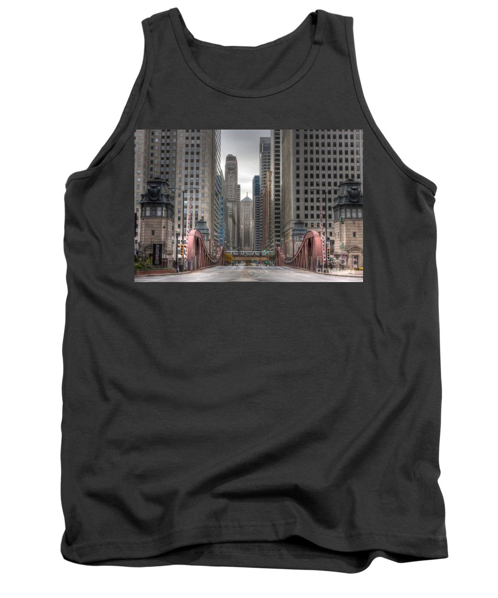 Chicago Tank Top featuring the photograph 0295 Lasalle Street Chicago by Steve Sturgill