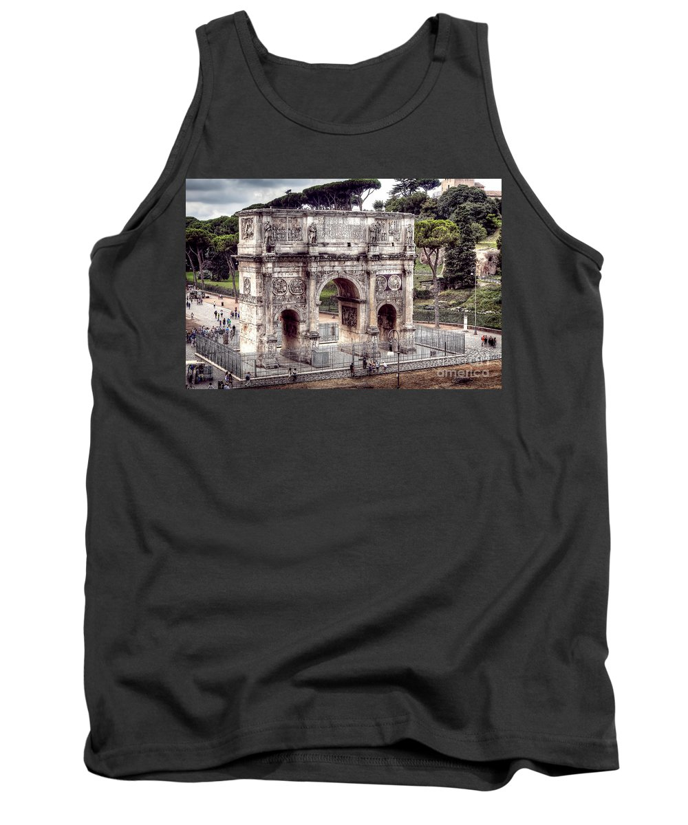 Arch Tank Top featuring the photograph 0793 Arch Of Constantine by Steve Sturgill