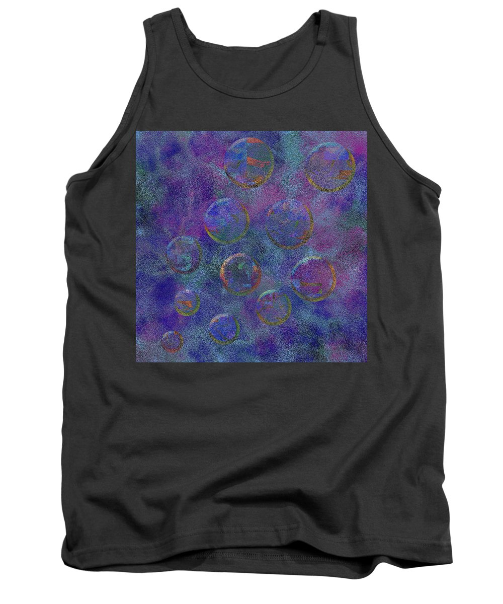 Abstract Tank Top featuring the digital art 0877 Abstract Thought by Chowdary V Arikatla
