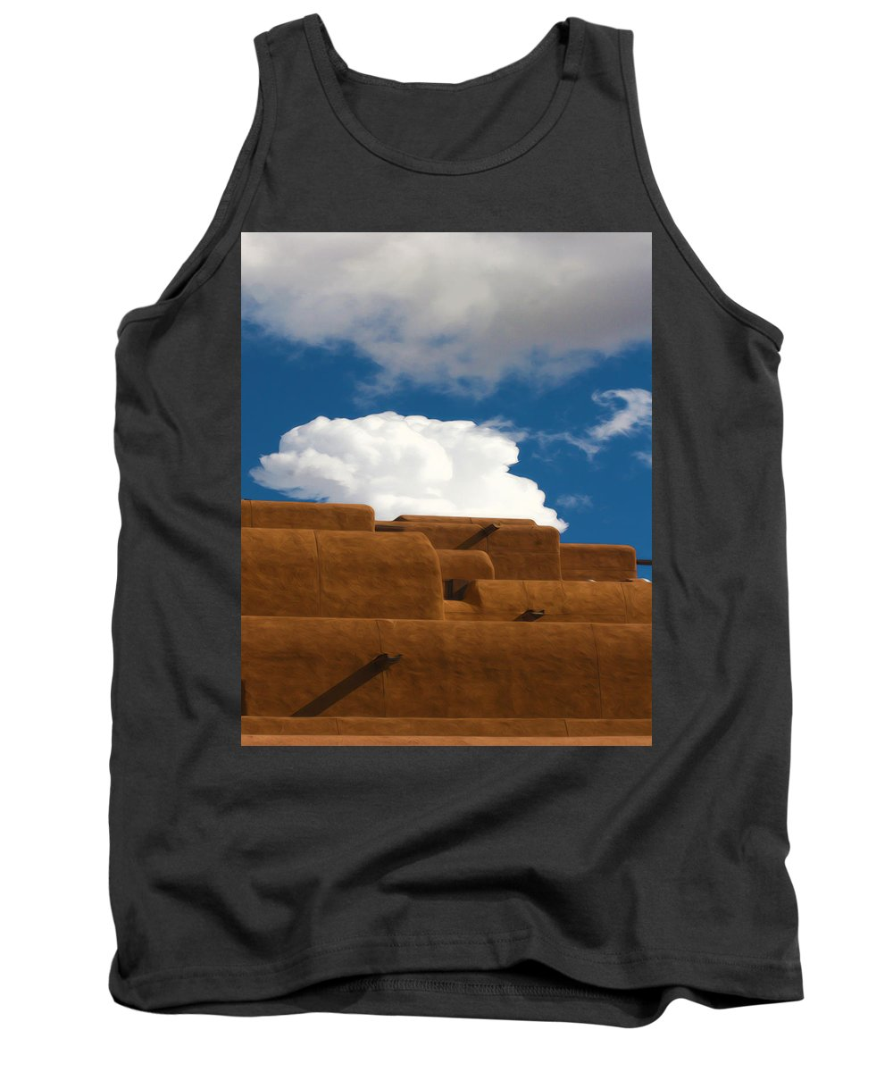 Clouds Tank Top featuring the photograph Above Santa Fe by Terry Fiala