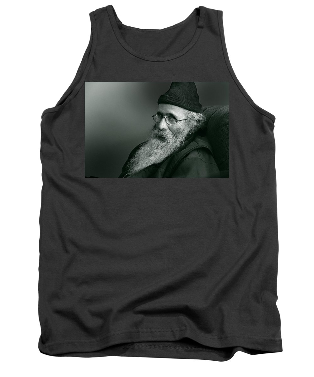 Portrait Portraits Tank Top featuring the photograph Artist At Ease by John Herzog