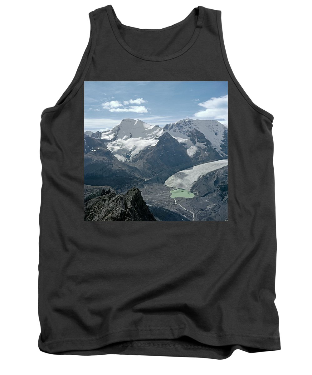 Athabasca Glacier Tank Top featuring the photograph T-303504-athabasca Glacier In 1957 by Ed Cooper Photography