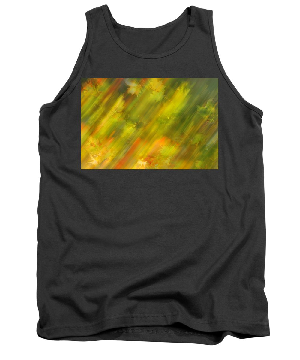 Autumn Leaves.tree Tank Top featuring the photograph Autumn Leaves On The Abstract Background by  larisa Fedotova