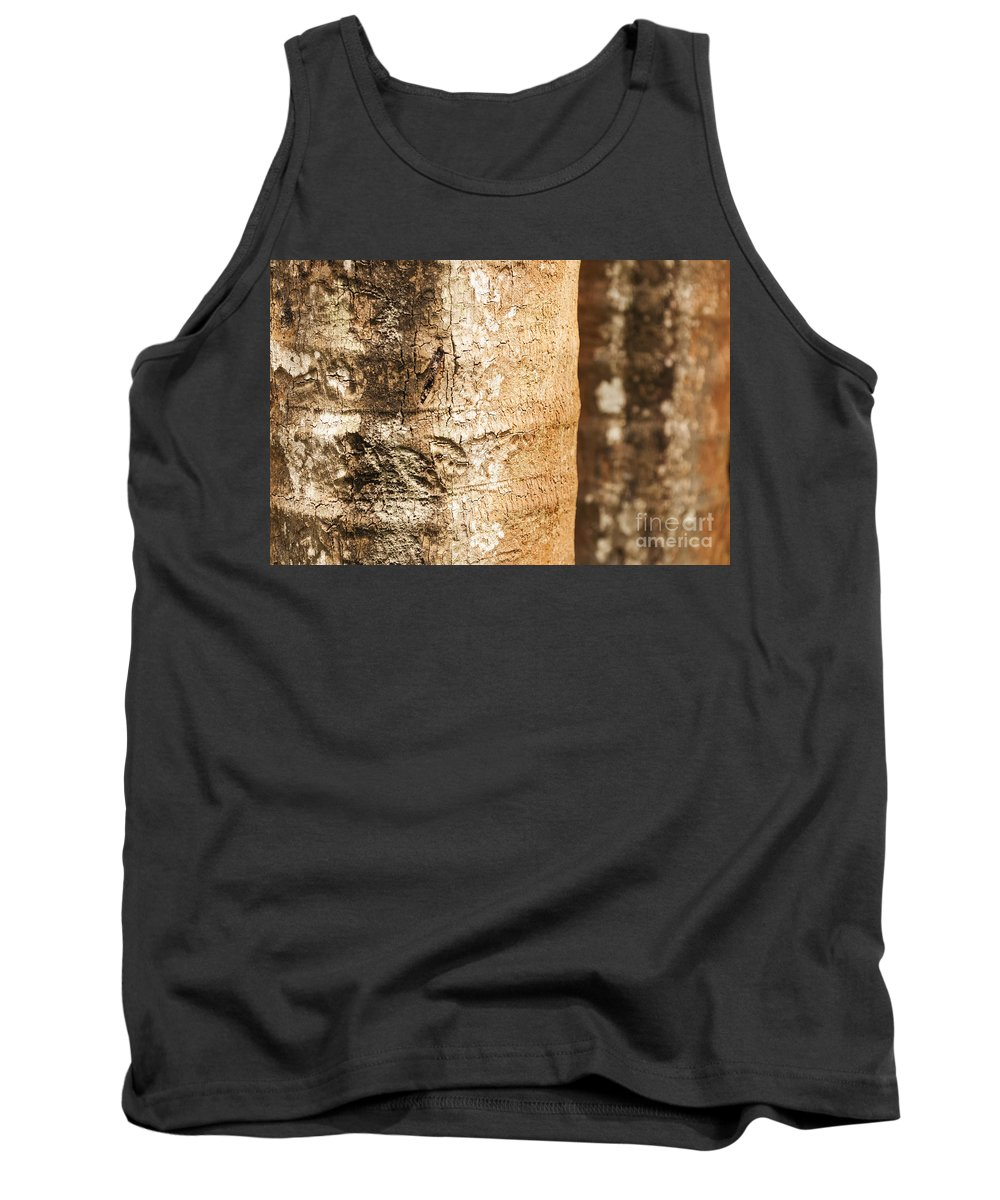 Textured Tank Top featuring the photograph Bark Of A Tree by Rudra Narayan Mitra